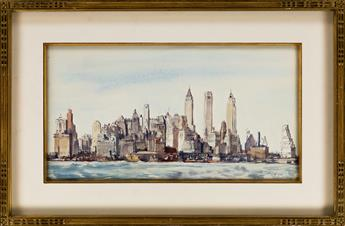 REGINALD MARSH New York Skyline.