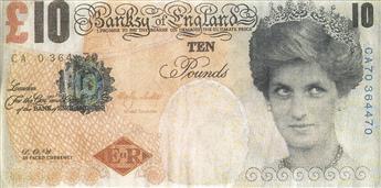 BANKSY 10 Pound Banknote.
