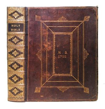 BIBLE-IN-ENGLISH--The-Holy-Bible--1715--Extra-illustrated-bu