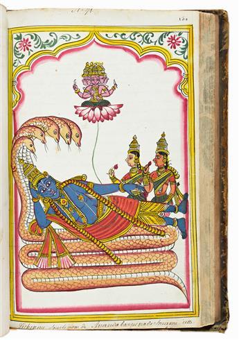 Costumes et Plantes de LHindoustan. Manuscript on Paper.