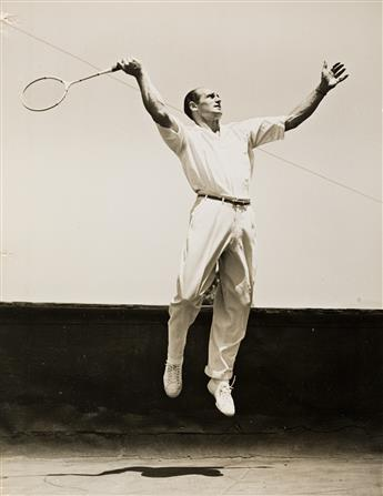 JACK PASHKOVSKY (1911-2001) A pair of photographs depicting tennis star Bill Tilden.