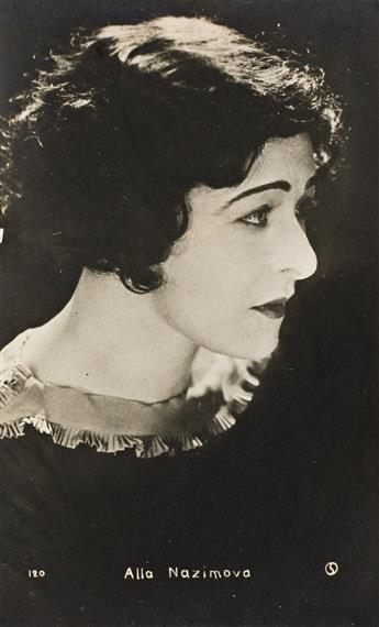 (ALLA NAZIMOVA, 1879-1945) A group of 12 real phot