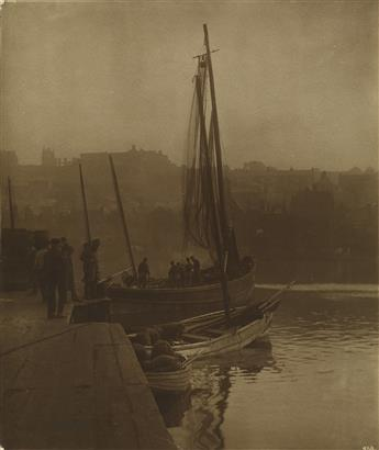 FRANK MEADOW SUTCLIFFE (1853-1941) Fishing boat, Whitby, England * Young fisherwoman, Whitby, England.