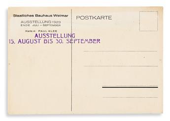 KLEE, PAUL. Bauhaus Ausstellung Juli - Sept. 1923 Weimar. [Weimar: Staatliches Bauhaus], 1923.