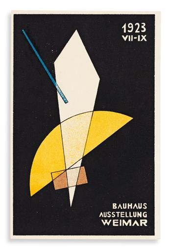 MOHOLY-NAGY, LÁSZLÓ. Bauhaus Ausstellung Juli - Sept. 1923 Weimar. [Weimar: Staatliches Bauhaus] 1923.