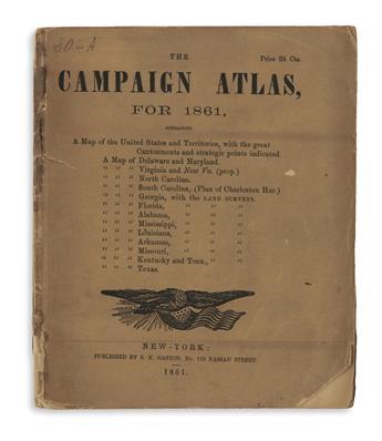 (CIVIL WAR.) Gaston, Samuel N. The Campaign Atlas