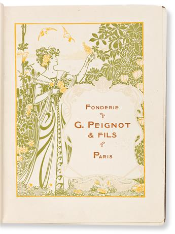 [SPECIMEN BOOK — FONDERIE & G. PEIGNOT & FILS, PARIS]. Album d'Applications des Nouvelles Créations Françaises. Paris, 1901.