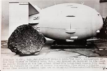 (COLD WAR--NUCLEAR BOMB TESTING) A group of 28 select press prints related to post-war atomic bomb testing, primarily in the United Sta