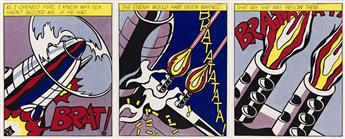 ROY LICHTENSTEIN As I Opened Fire Poster, Triptych.