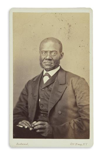 (SLAVERY AND ABOLITION.) Rockwood, George; photogr
