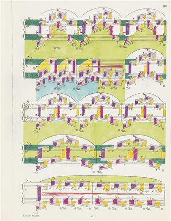 PAUL-SHARITS-Group-of-8-Music-Score-Drawings