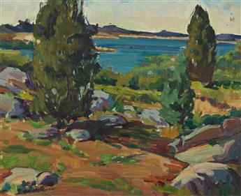 MABEL GREER Seaside Landscape.