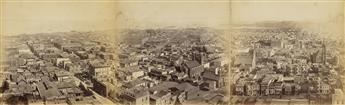 EADWEARD MUYBRIDGE (1830-1904) Panorama of San Francisco from California St. Hill.