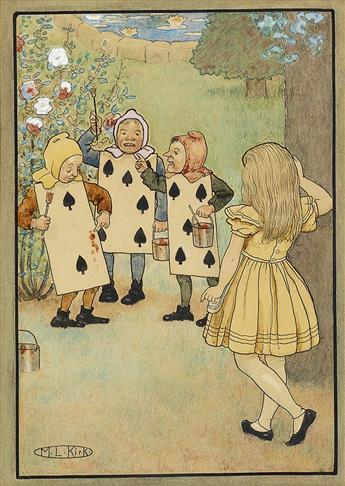 MARIA LOUISE KIRK. Alices Adventures in Wonderland.