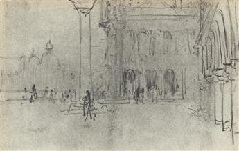 FRANCIS HOPKINSON SMITH Group of 4 drawings.