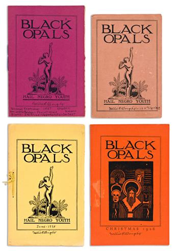 (LITERATURE.) 4 issues of Black Opals, the legendary limited-edition literary journal.