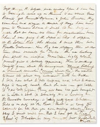 (CIVIL WAR--WOMEN.) William Henry Austin. Letter describing a meeting with female soldier Sarah Rosetta Wakeman.