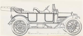 CLARENCE HORNUNG (1899-1997) Group of 26 Automobile Illustrations. [CARS / DESIGN]
