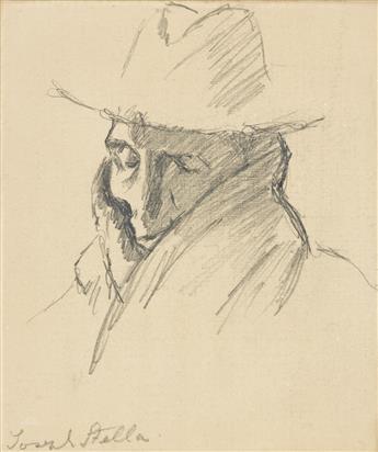 JOSEPH STELLA (1877-1946) Two portrait drawings.