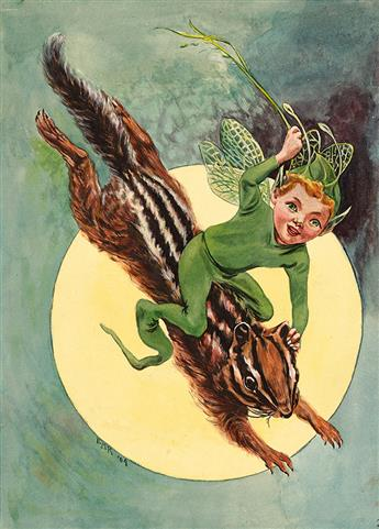 E.M.K. (active early 20th century) The Elfin Chipmunk Express. [CHILDRENS]