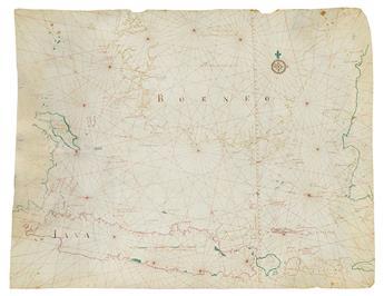 (DUTCH EAST INDIA COMPANY--JAVA SEA.) Graaf, Isaak de. A fine manuscript map of Java, the Java Sea, Bali,