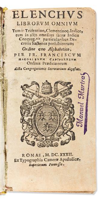 Capiferreus, Franciscus Magdalenus (d. 1632); Council of Trent. Elenchus Librorum Omnium tum in Tridentino.