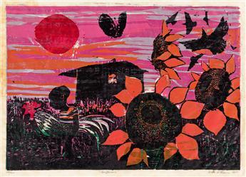 WALTER H. WILLIAMS (1920 - 1998) Sunflowers.