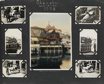 (CHINA) An American sailors tour album with more than 840 photographs, approximately half depicting a range of unusual subjects in Hon