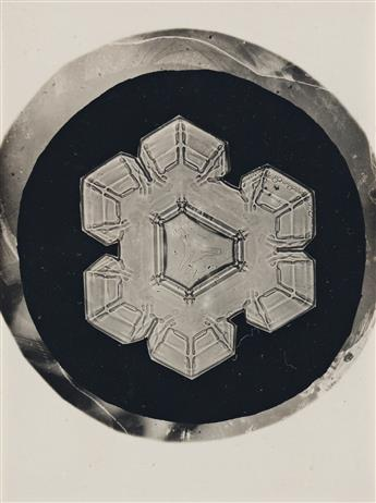 WILSON-A-SNOWFLAKE-BENTLEY-(1865-1931)-A-group-of-three-snow