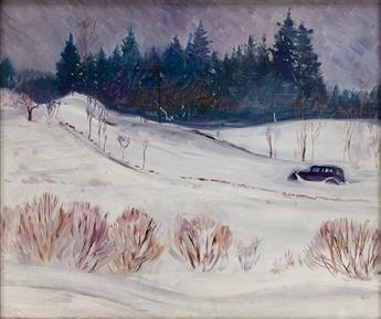MARTIN-LEWIS-Connecticut-Snow-Scene