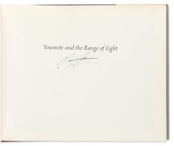 ADAMS, ANSEL. Yosemite and the Range of Light. Signed on the half-title.