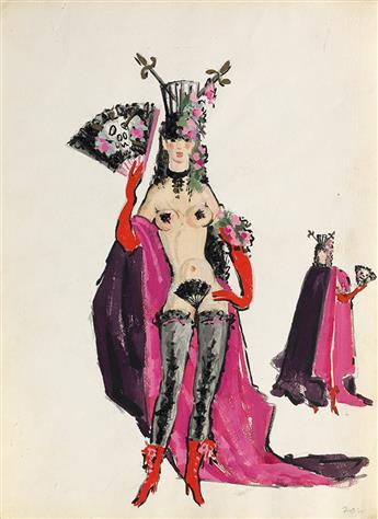 (COSTUME / THEATER.)  RAOUL PÈNE DU BOIS. An archive of original illustrations and studies primarily for Sugar Babies,