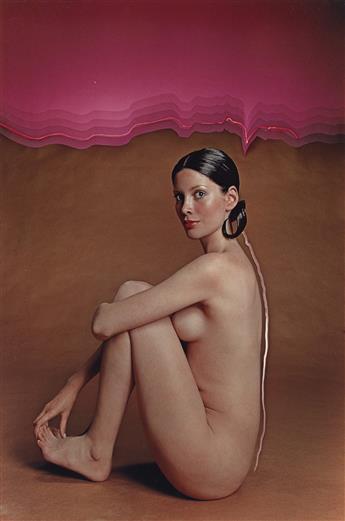 HIRO-[YASUHIRO-WAKABAYASHI]-(1930--)-Nude-outlined-in-pink--