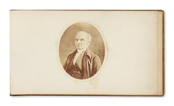 (MORMONS.) Scrapbook of the Methodist minister George Lane, whose preaching was an early inspiration to Joseph Smith.