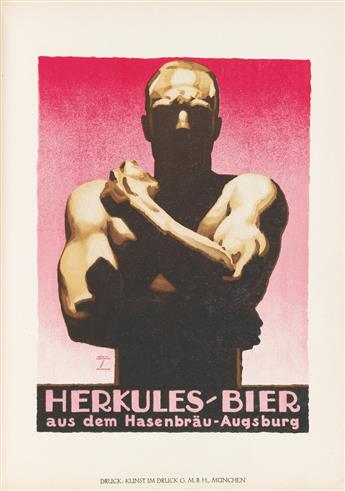 LUDWIG HOHLWEIN (1874-1949) & H.K. FRENZEL (DATES UNKNOWN). LUDWIG HOHLWEIN. Bound volume. 1926. 12x8 inches, 30x22 cm. Phonix Illustra