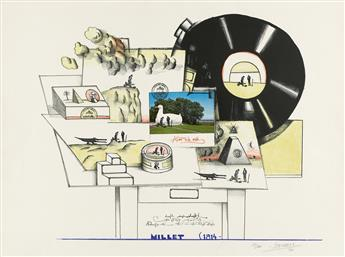 SAUL-STEINBERG-Group-of-4-color-lithographs