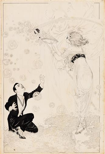 NELL BRINKLEY (1886-1944) Blowing Bubbles. [CARTOON / COMICS / FEMALE / EISNER AWARD]
