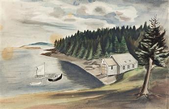 FAIRFIELD PORTER Maine Landscape.