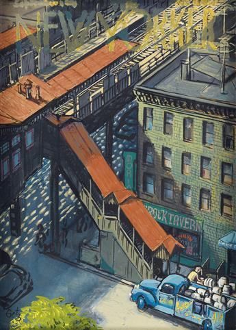 (THE NEW YORKER.) ARTHUR GETZ. The El Train.