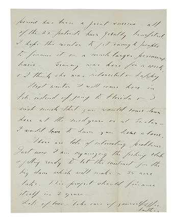 ROOSEVELT, FRANKLIN D. Group of 3 Autograph Letters Signed, Your affectionate Father, to his son James Roosevelt II (Dear Jimmy, D