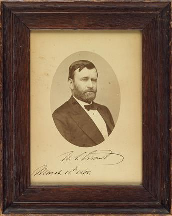 GRANT-ULYSSES-S-Photograph-dated-and-Signed-US-Grant-as-Pres