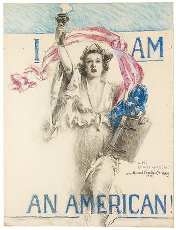 (ADVERTISING.)  HOWARD CHANDLER CHRISTY. I Am an American!
