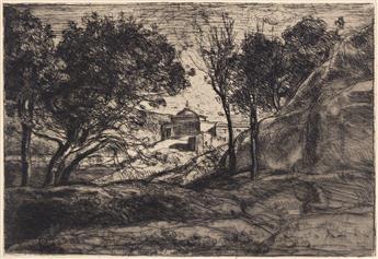 JEAN-BAPTISTE-CAMILLE COROT Souvenir de Toscane.