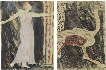 EMMA-AMOS-(1938-----)-Josephine-and-the-Ostrich