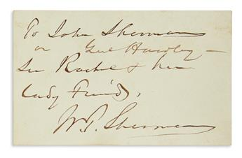 SHERMAN-WILLIAM-TECUMSEH-Two-items-Signed-WT-Sherman-each-to