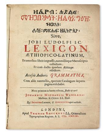 GRAMMARS-DICTIONARIES-etc--LUDOLF-HIOB-Lexicon-Aethiopico-La