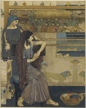 SIR WILLIAM RUSSELL FLINT. Then in amaze she went back to her chamber, for she laid up the wise saying of her son in her heart.