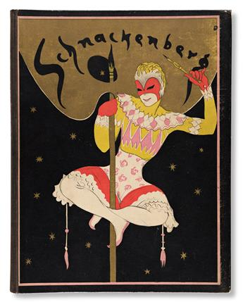 WALTER SCHNACKENBERG (1880-1961).  SCHNACKENBERG: KOSTÜME / PLAKATE UND DEKORATIONEN. Complete book. 1922. 13¼x10½ inches, 33½x26¾ cm.