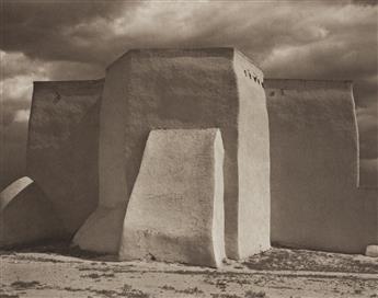 (PAUL STRAND) (1890-1976)/RICHARD BENSON (1943-2017) St. Francis Church, Ranchos de Taos.