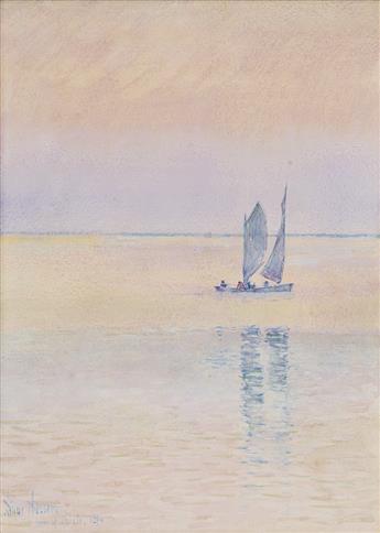 CHILDE-HASSAM-Sailboat-off-the-Coast-Isle-of-Shoals